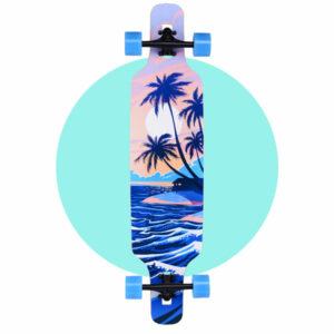 Playshion Drop Through Longboard 39″ Beach