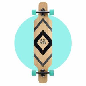 Playshion Drop Through Longboard 39″