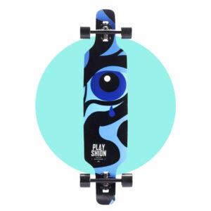 Playshion Drop Through Longboard 39″ – Blue Tear